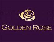 金玫瑰紋繡